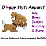 Doggie Style Apparel logo provides unique fashion for your best buddy!